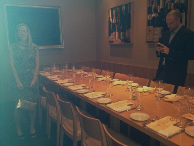 Part of the private room we had reserved.