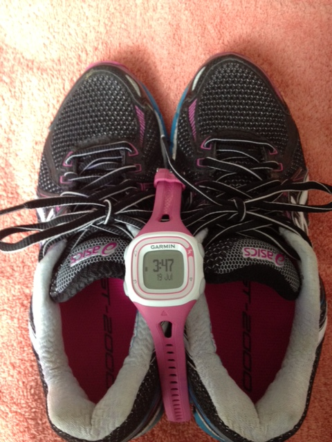 My trusty running shoes and Garmin.
