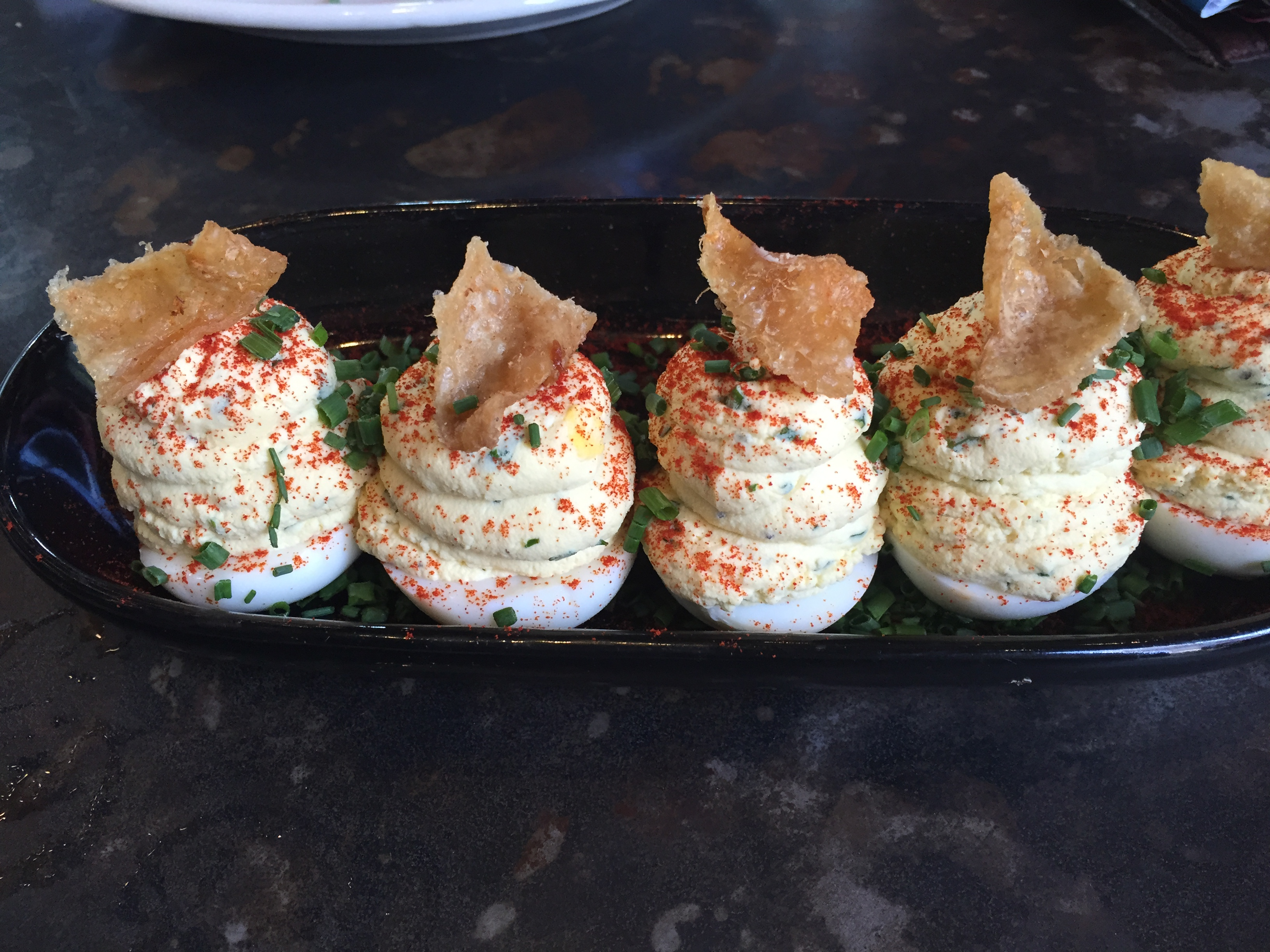 The Rustic had the BEST deviled eggs I had ever had.