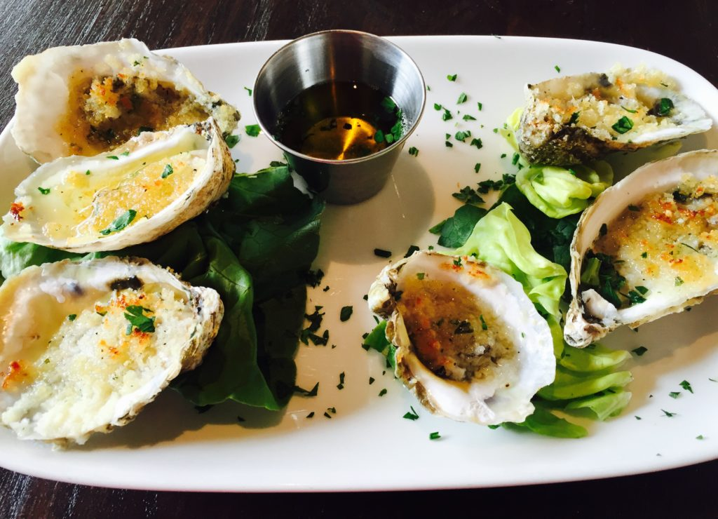 For this meal I settled on Grilled Oyster swith parmesan, parsley, butter and garlic crumb