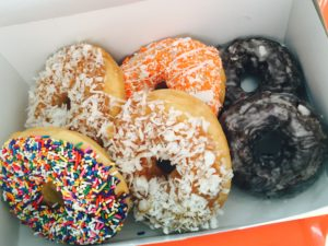 Sugar Shack donuts I brought to a friend who is in the hospital. Hoping for a speedy recovery!