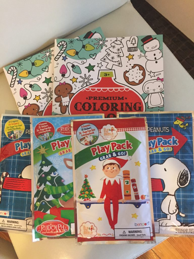 An assortment of coloring books I grabbed from Target's dollar section!